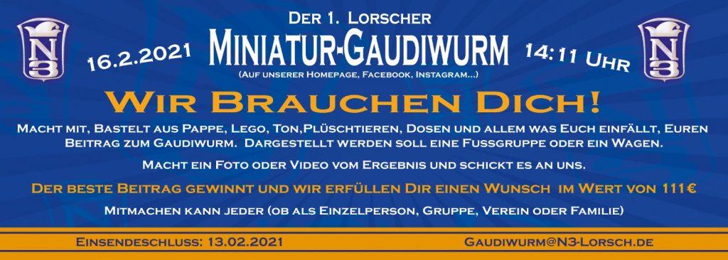 2021 Miniatur-Gaudiwurm